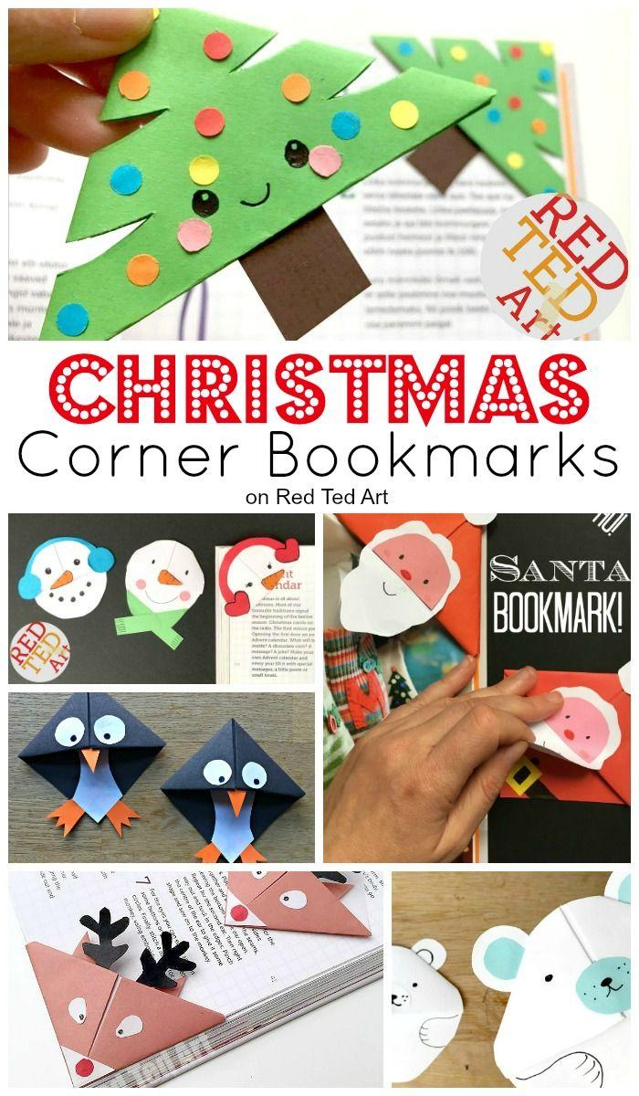 Easy Christmas Bookmark Ideas for Kids  Bookmark ideas