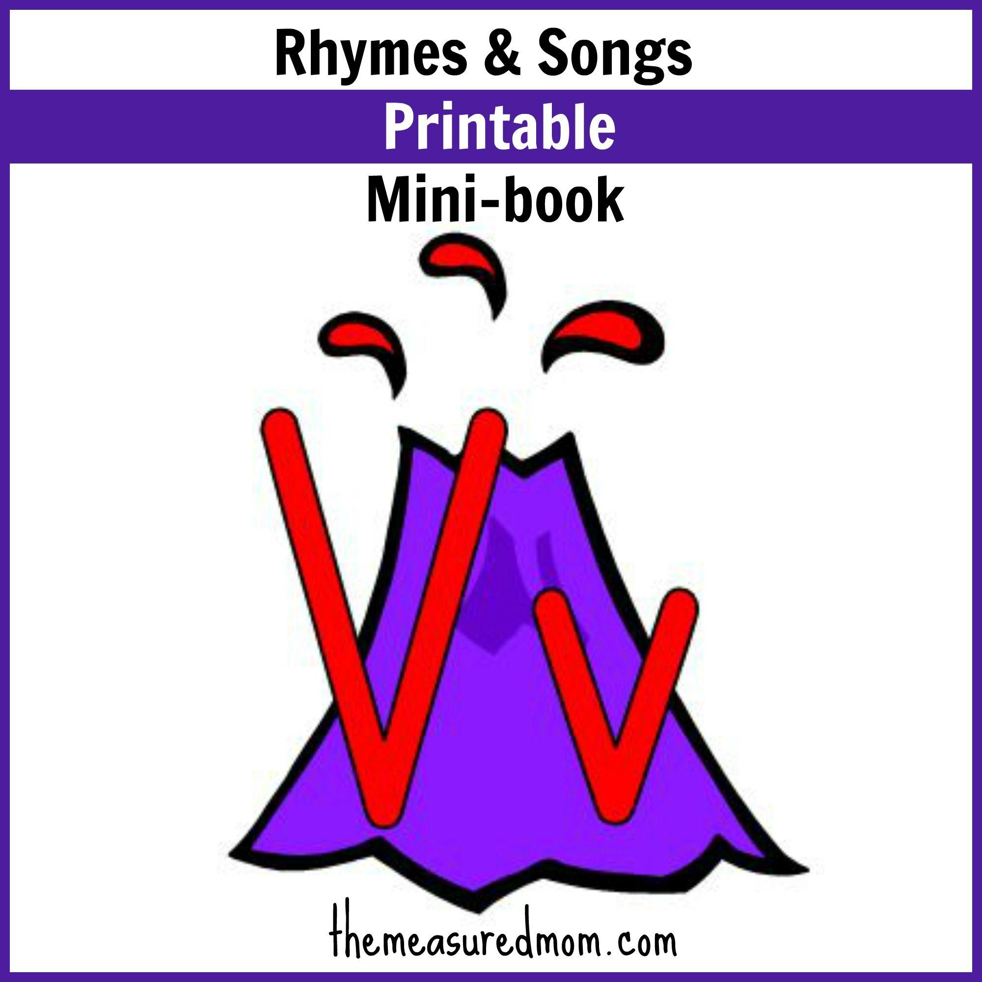 Rhymes Amp Songs For Letter V Little Letter V Book