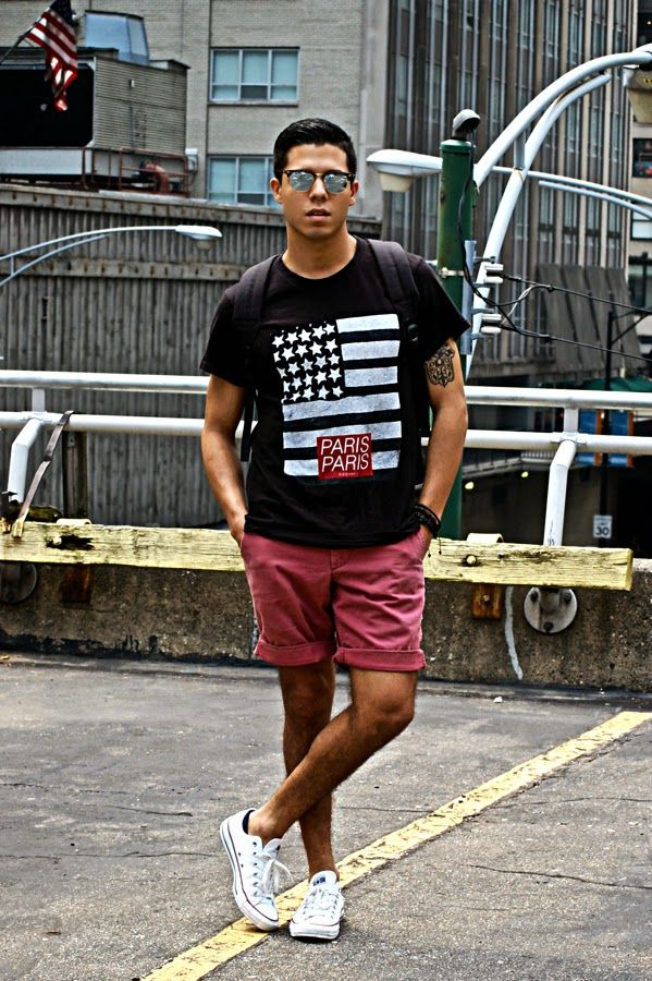 Red And Red Red Picture Shirt Shoes Shorts Black Black And Socks And