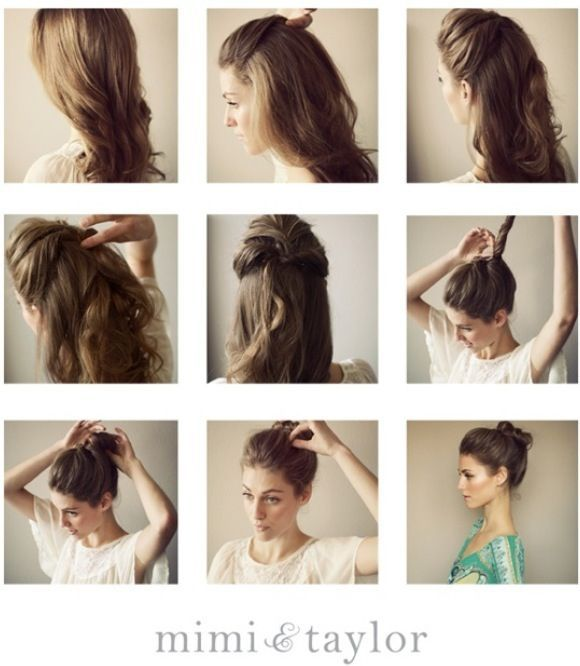 Super Easy Top Knot Hair Bun Step By Step Tutorials Hairstyles