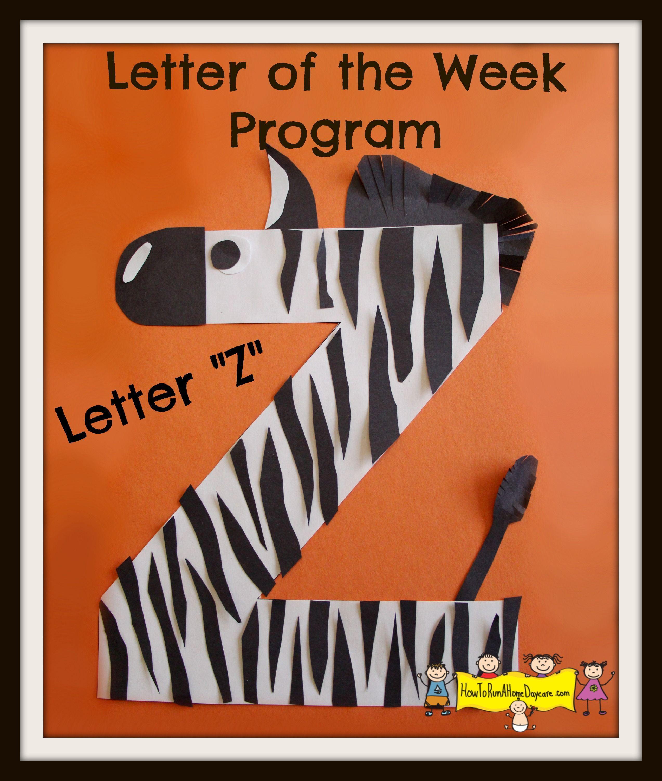 Letter Z Letter Of The Week Program