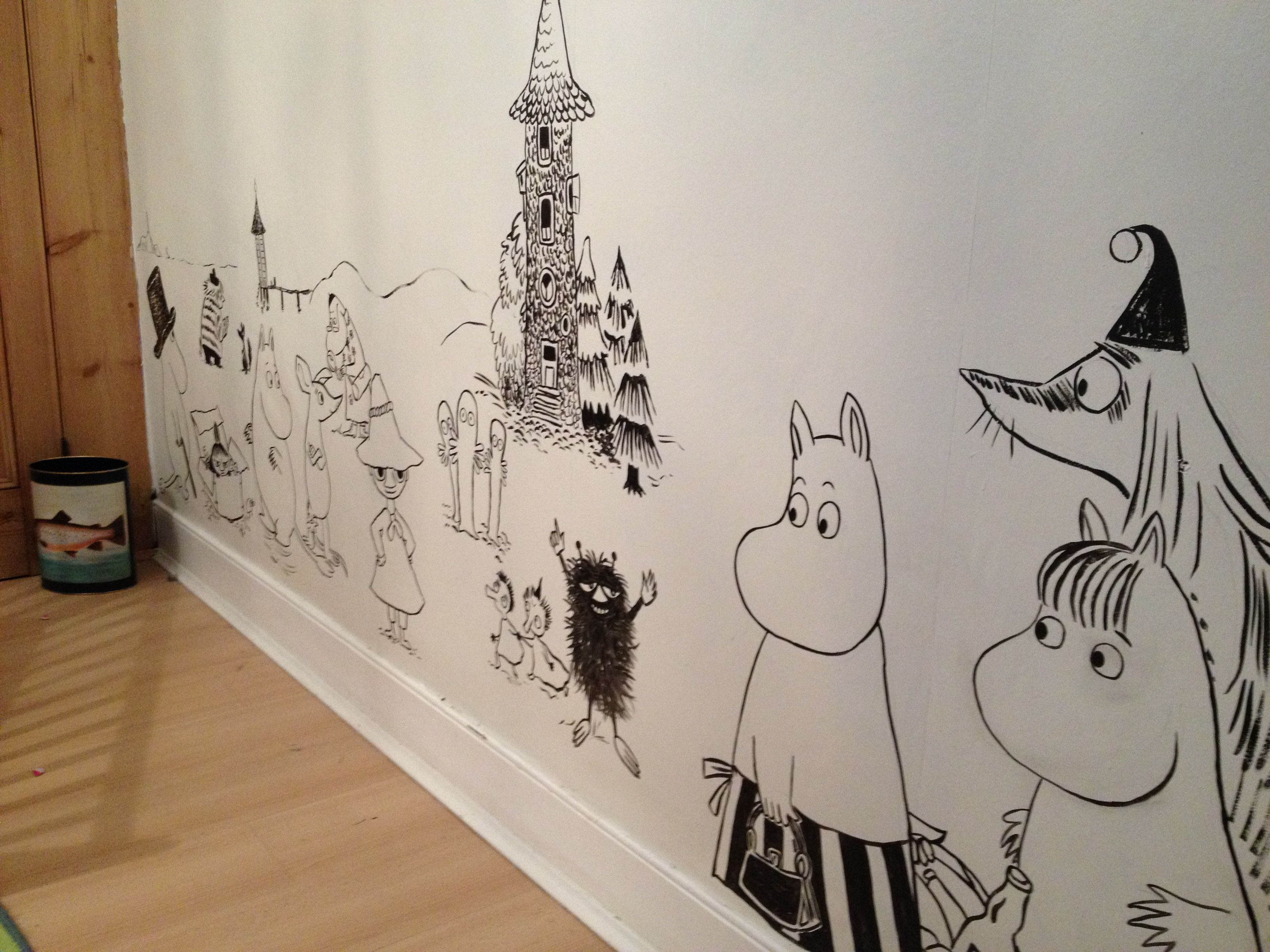 The Moomin Wall In The Girl S Room Is Coming Along By Alex Jones Jones Milway