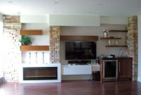 Extremely Cool White Floating Fireplace Cabinet With Open ...