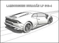 Lamborghini Huracan Zum Ausmalen - Malvorlagen