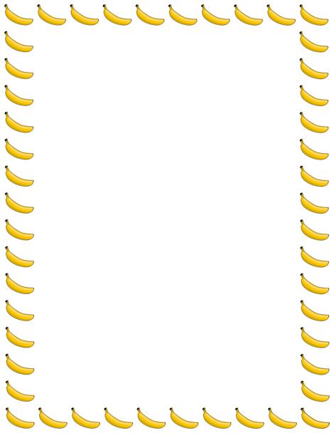 banana page border. free