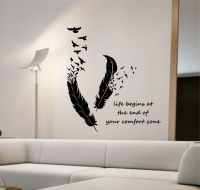 Feathers Turning Into Birds Vinyl Wall Decal Sticker Art ...