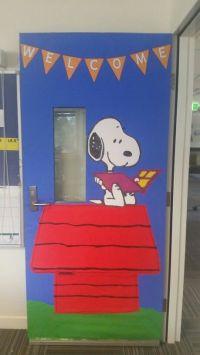 Snoopy Classroom Door | School Craft | Pinterest | Snoopy ...