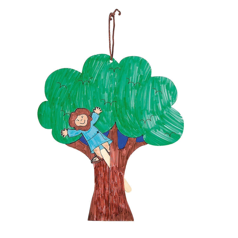 Color Your Own Zacchaeus Pop Up Puppet Door Hangers