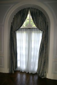 arched window treatments:glamorous curtains for high