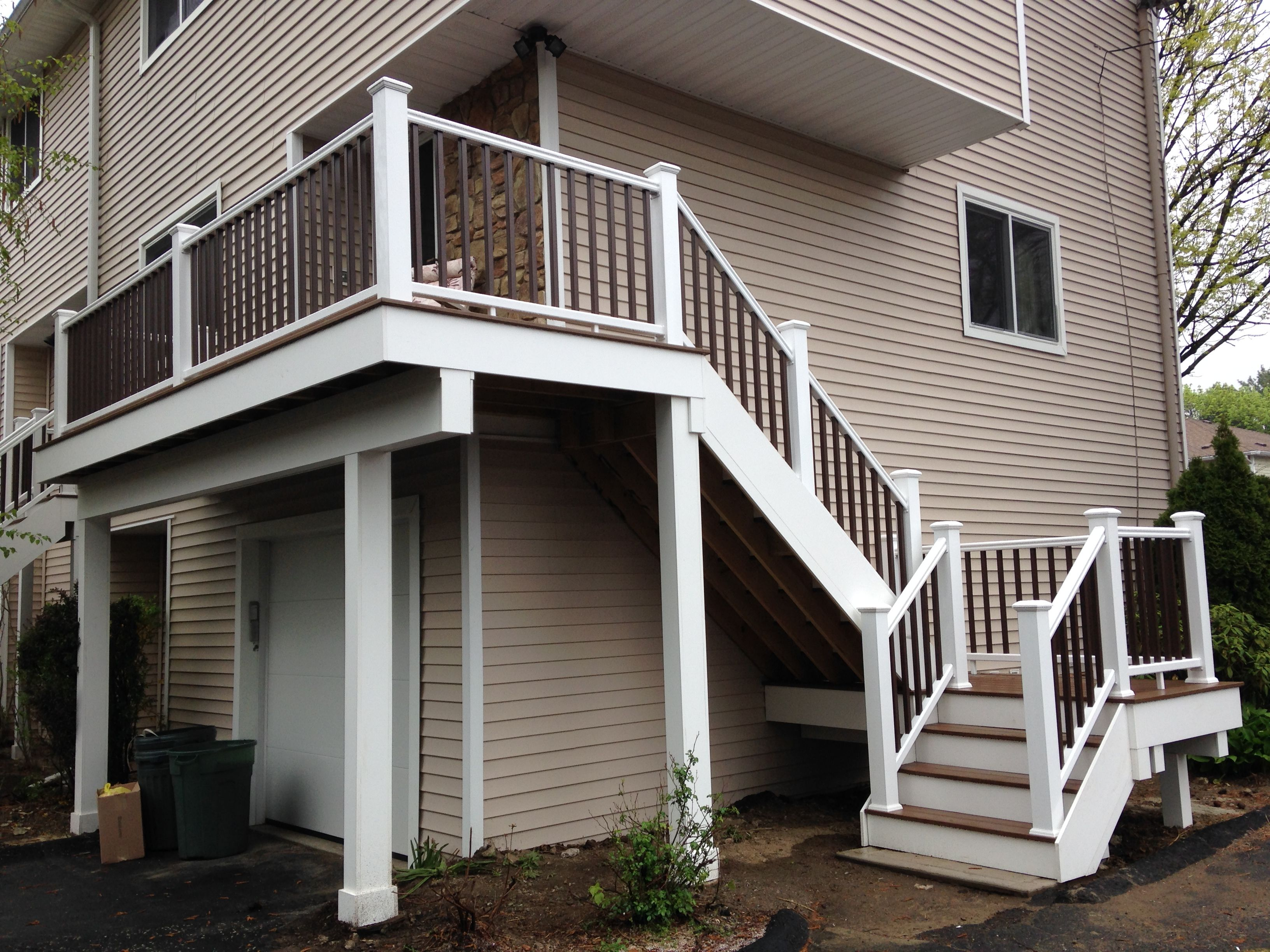 Stairs, landing, railings & second story deck replaced for