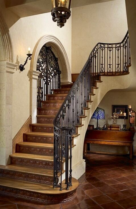Spanish Style Courtyard Google Search STAIRS Pinterest Spanish Style Staircases And