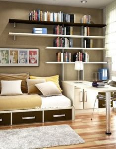 Interior designs bedroom bookshelf design ideas for smart space saver wall mounted bookcase decor with nice style also imagen relacionada pinterest bedrooms rh in
