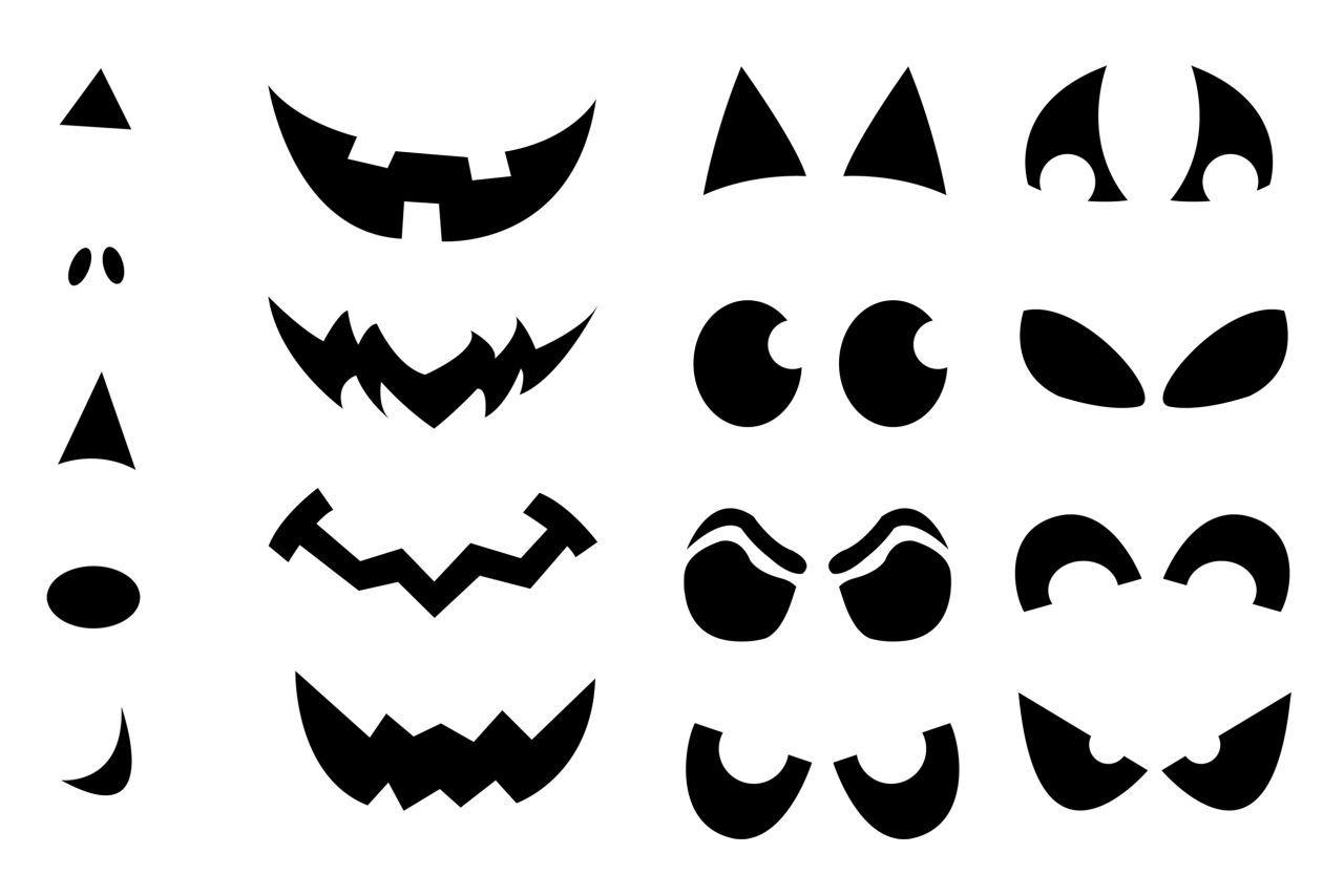 Jack O Lantern Faces Stencils