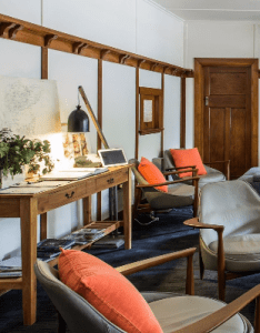 guestrooms are split between the pumphouse and waterside shorehouse  an art deco building that also houses main communal lounge prep kitchen rh pinterest