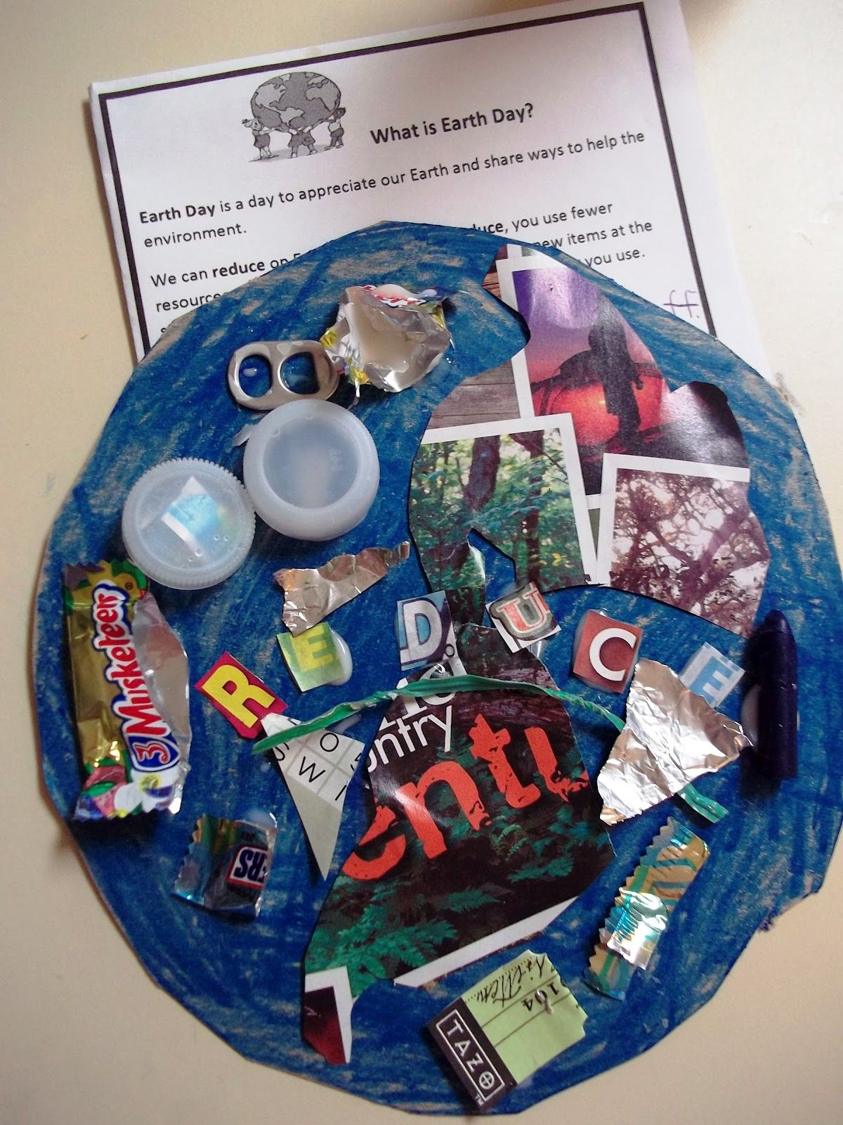 Earth Day Glyph Reduce Reuse Recycle Project For Kids