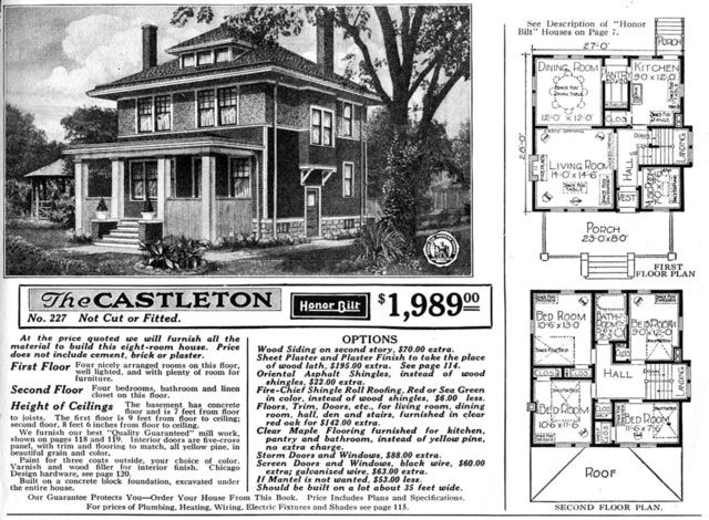 Maybe Your Foursquare House Is From A Catalog House Plans Home