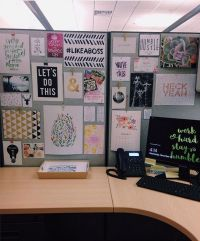 Image result for office cubicle decor pinterest