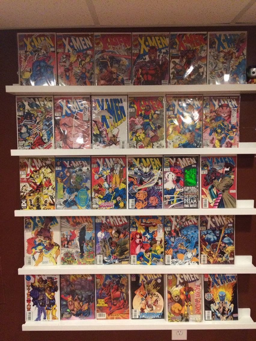 Ikea Ribba picture ledges make great comic book display