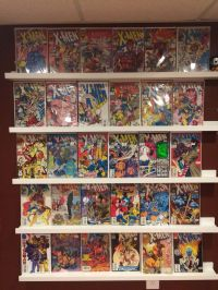 Ikea Ribba picture ledges make great comic book display ...