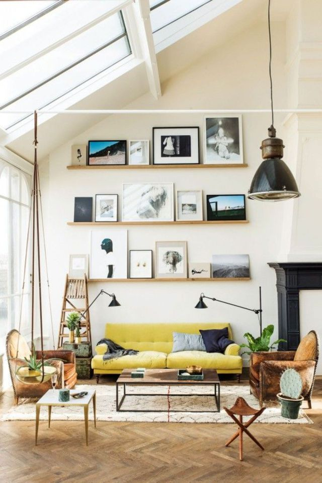 Deco salon scandinave design contemporain arty salons living rooms and kitchen also rh pinterest