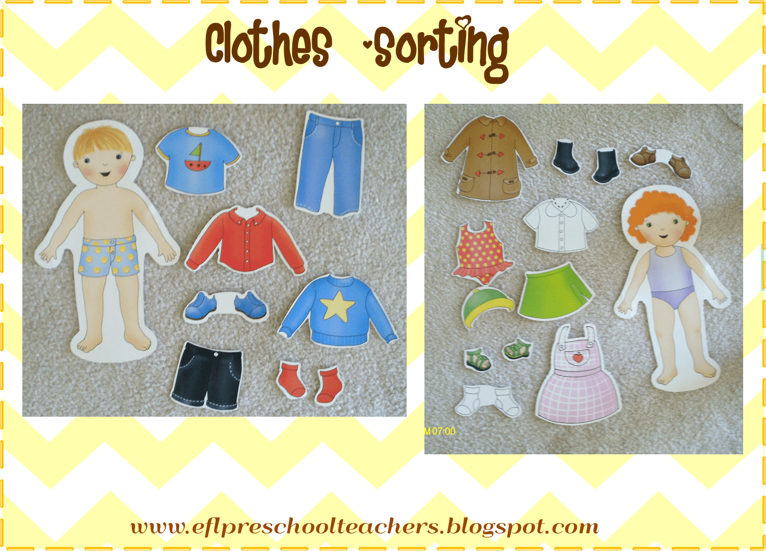 Esl Efl Preschool Teachers Clothes Theme