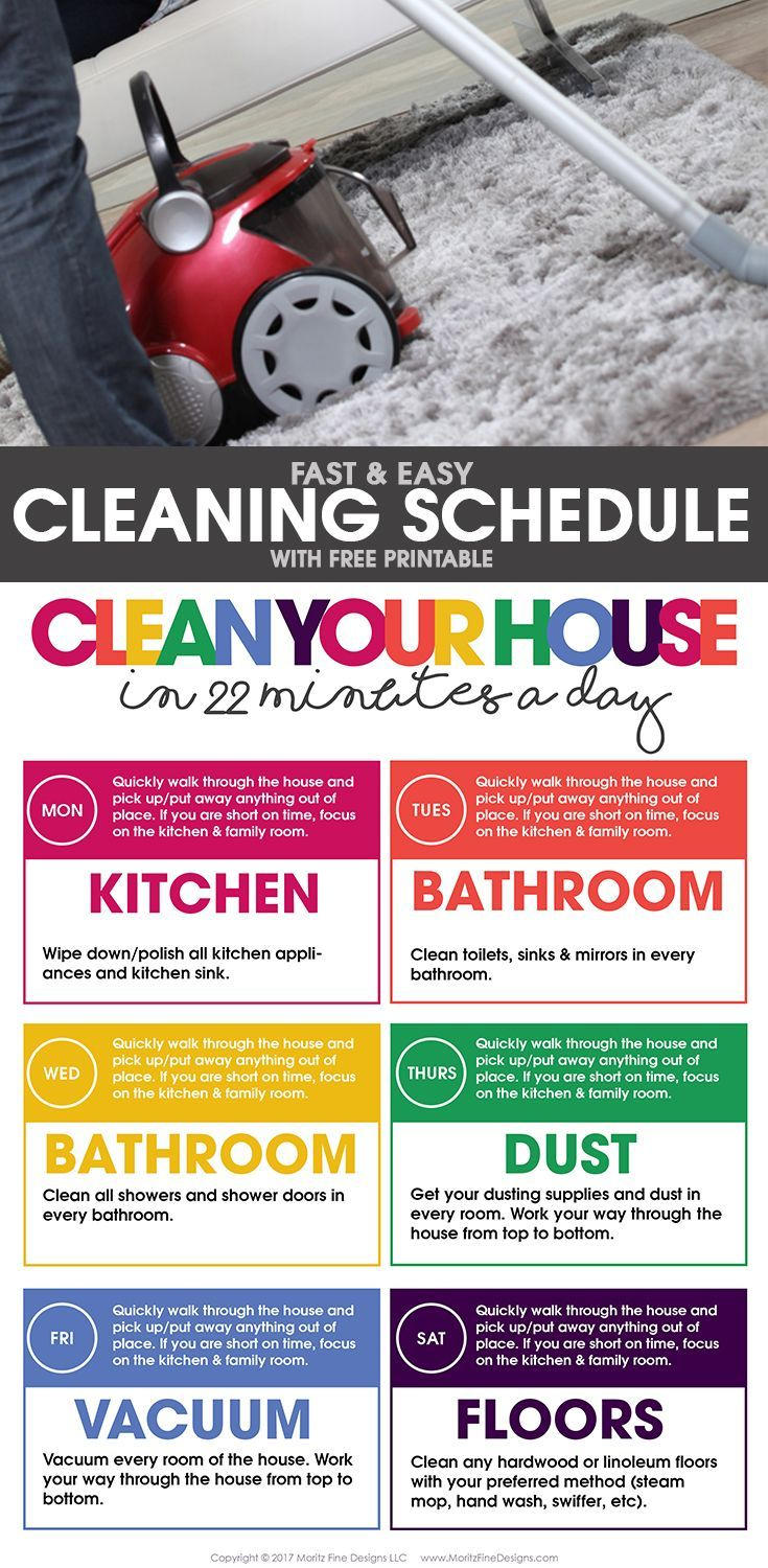 Clean Your House In 22 Minutes A Day Ideas Tips And Cleaning