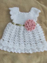 Baby Dress White and Gold Infant Dress Coming by
