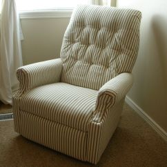 Armchair Cover Diy Snowman Chair Covers For Sale Re Upholster And Old Lazy Boy Recliner Crafty
