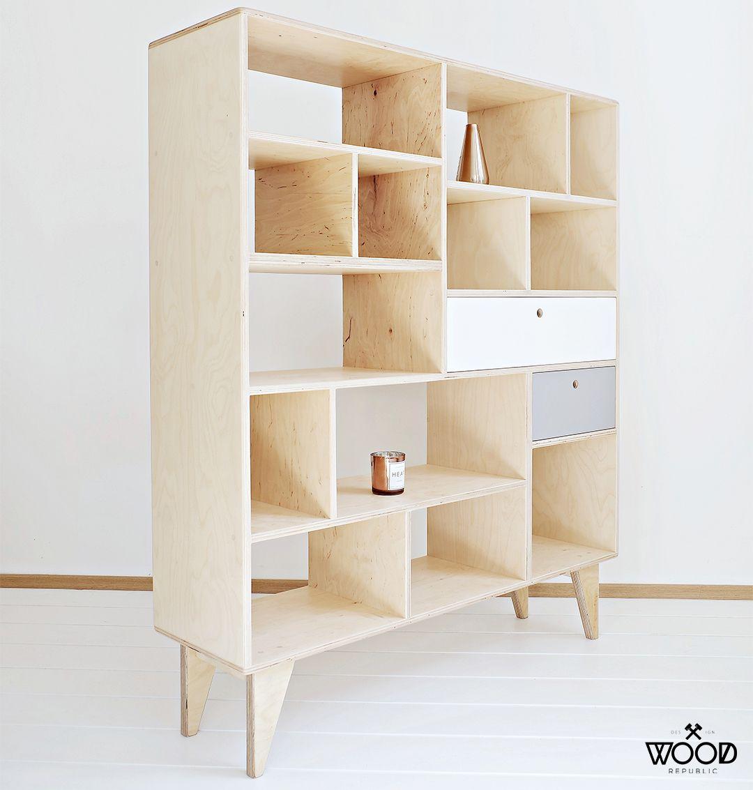Natural Colored Bookcase