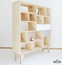 Natural Colored Bookcase