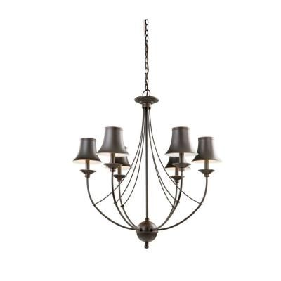 Actual Dining Chandelier Hampton Bay Charleston Collection Oil Rubbed Bronze The Home Depot