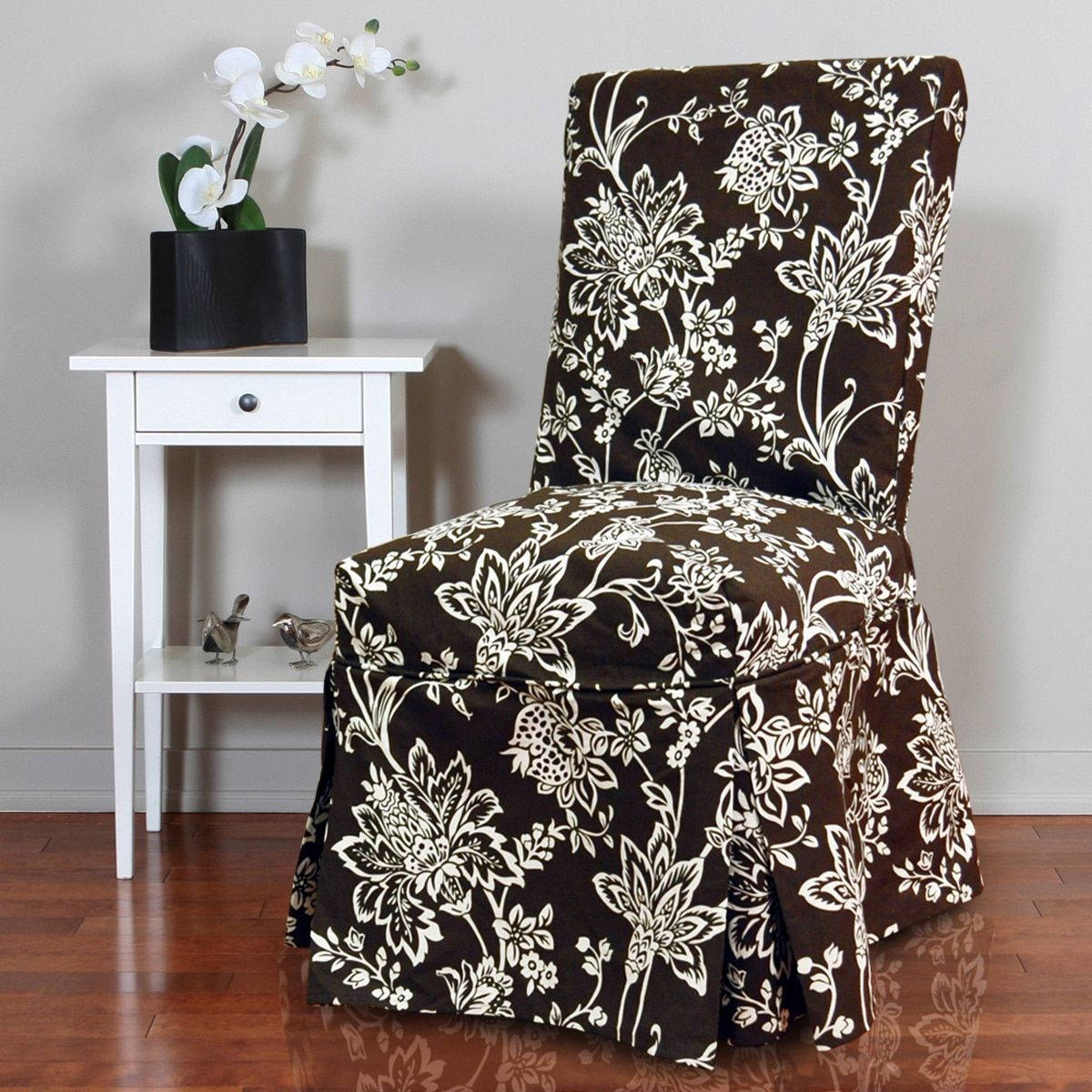 Green Chair Covers Quickcover Verona 1 Piece Floral Relaxed Fit Full Pleat