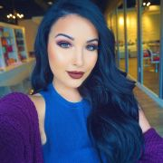 blue black hair makeup tutorials