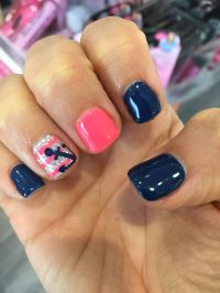 Anchor nail design manicure gel shellac polish spring ...