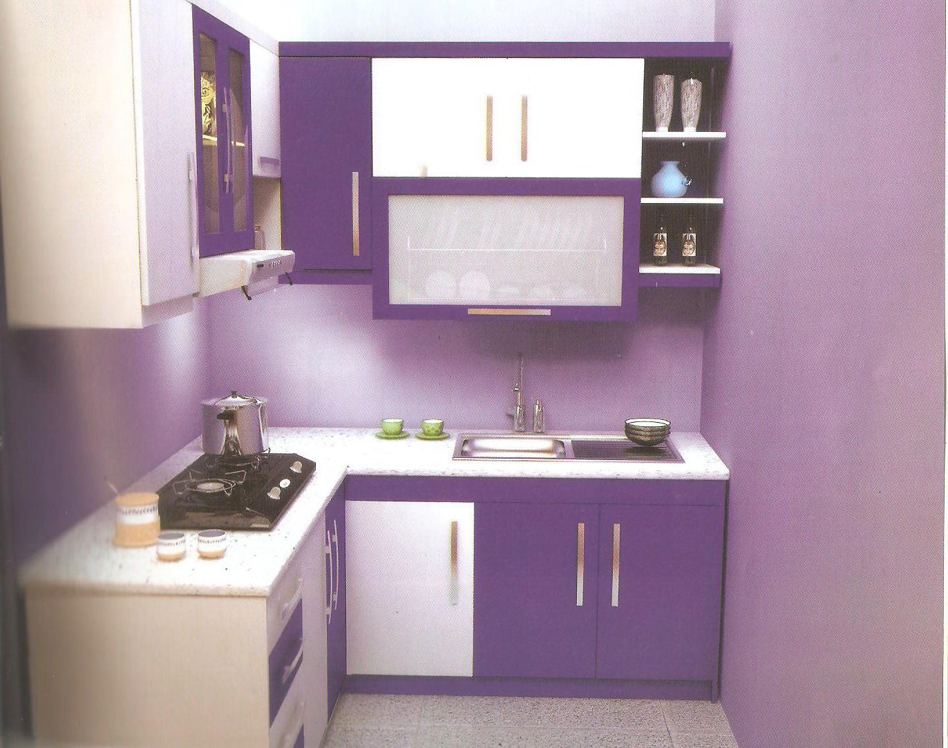 Best Kitchen Gallery: This Purposeful Purple Can Turn Any Space Into A Refreshing Retreat of Purple Kitchen Interior Design on rachelxblog.com