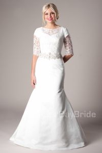 Remington Modest Wedding Dress Latter Day Bride & Prom ...