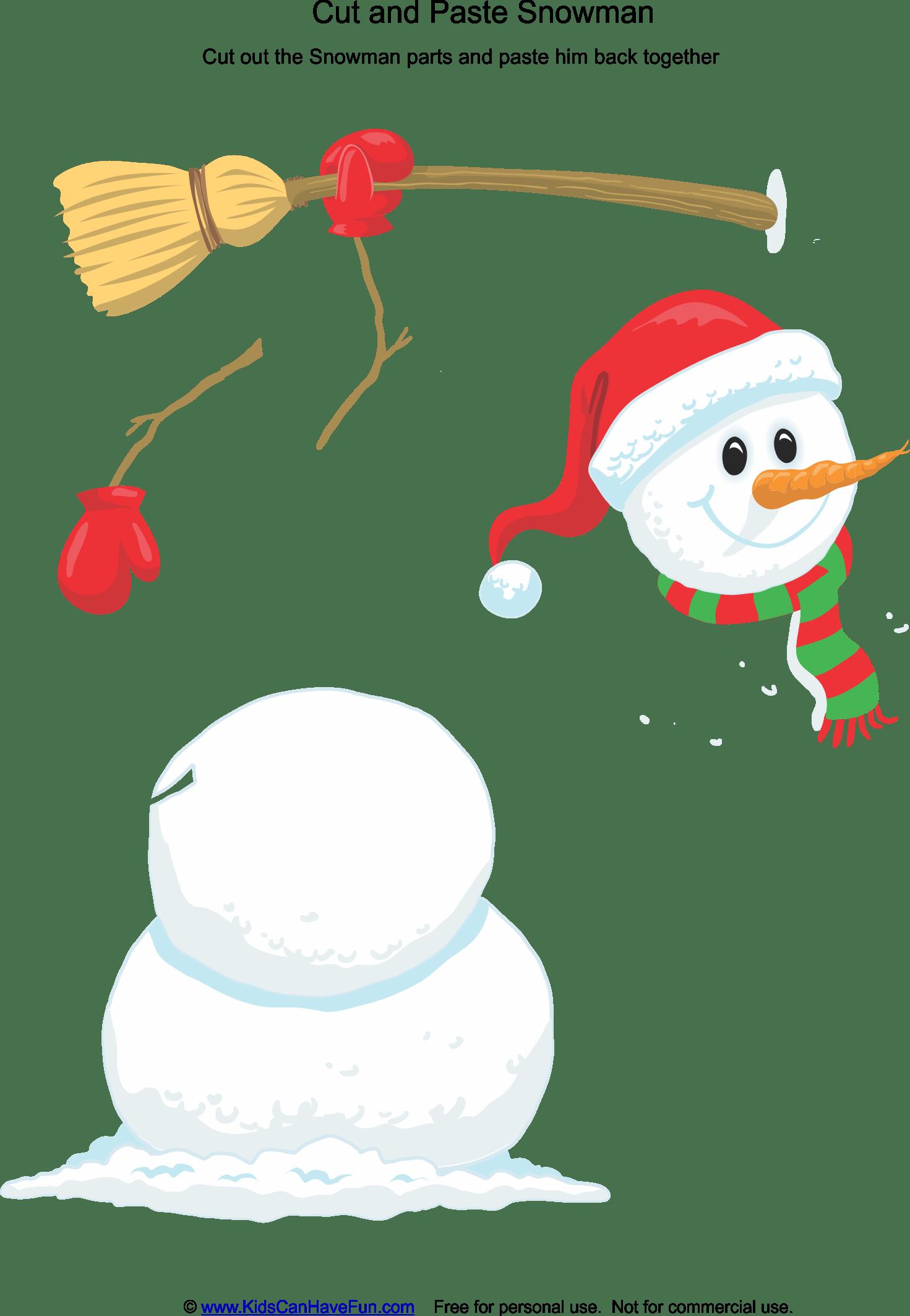 Cut And Paste Snowman Activitiy Dscanhavefun