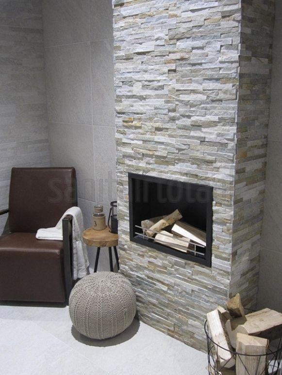 Natuursteen steenstrips tegelstroken woonkamer trends