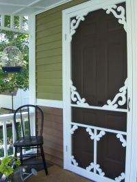 Cheapest screen door from Lowes embelished with hand ...