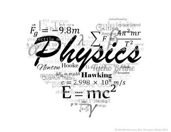 I LOVE PHYSICS! FREE POSTER, LOGO, TITLE PAGE GRAPHIC