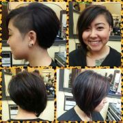 asymmetrical -line with shaved