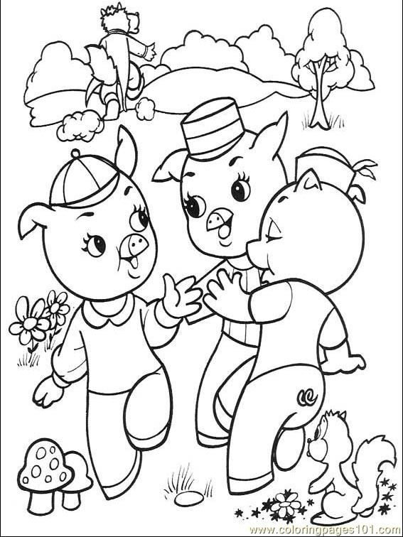The Three Little Pigs 001 (4) printable coloring page for