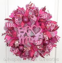 "Valentines Day Deco Mesh Wreath, ""Be Mine"" Valentines Day ..."