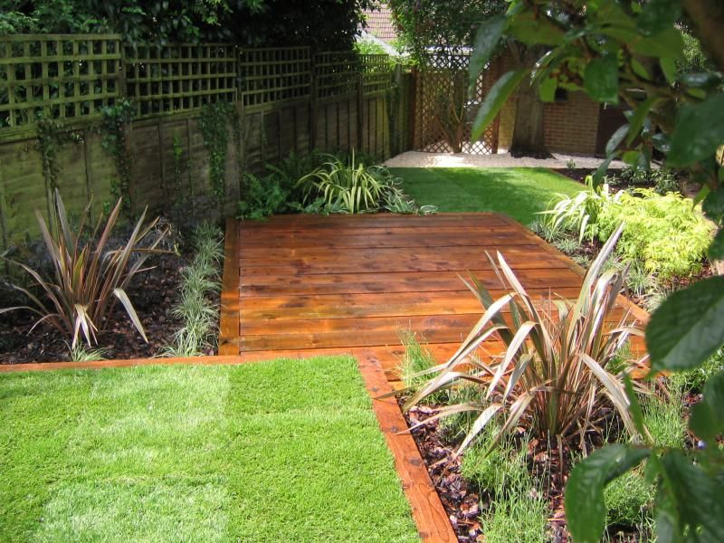 Railway Sleeper Edging With Central Area Garden Pinterest