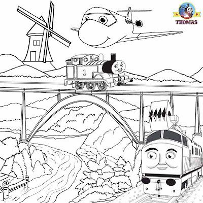 Summer Kids activities Thomas train picture sheets magic