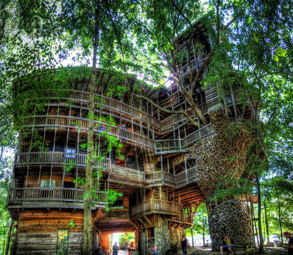 The Worlds Biggest Treehouse Treehouse Tree Houses And Treehouses
