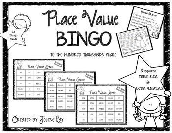 3rd Grade Place Value Bingo (to hundred thousands): TEKS 3