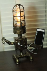 STEAMPUNK Industrial ROBOT Lamp / USB Device Cradle by ...