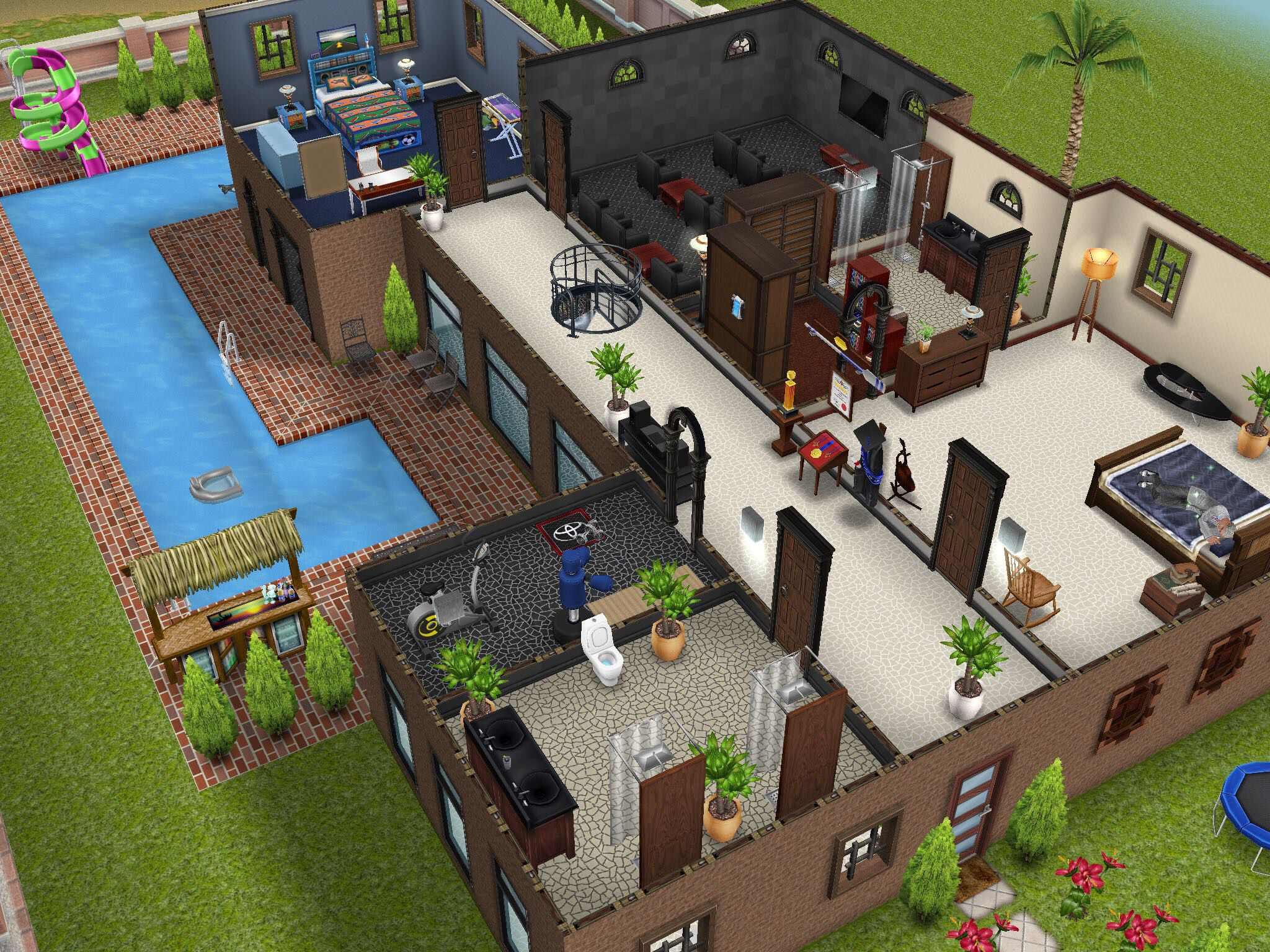 Variation On The Two Story Mansion Second Story #thesims