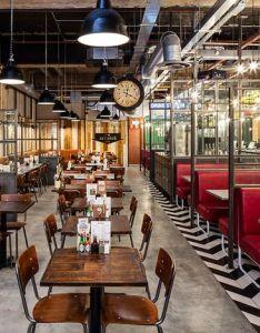 Latest entries handmade burger co grand central birmingham uk restaurant or bar in  transport space also  web cafe  pinterest rh